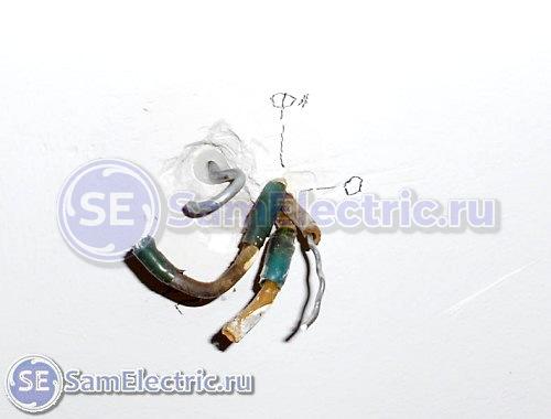 Подключение люстры с пультом. Провода из потолка для подключения люстры
