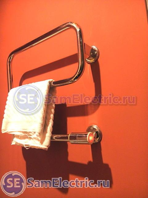 Установка полотенцесушителя на стену в ванной