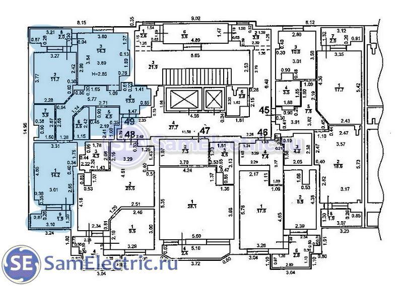 Пример электромонтажа в квартире стройвариант
