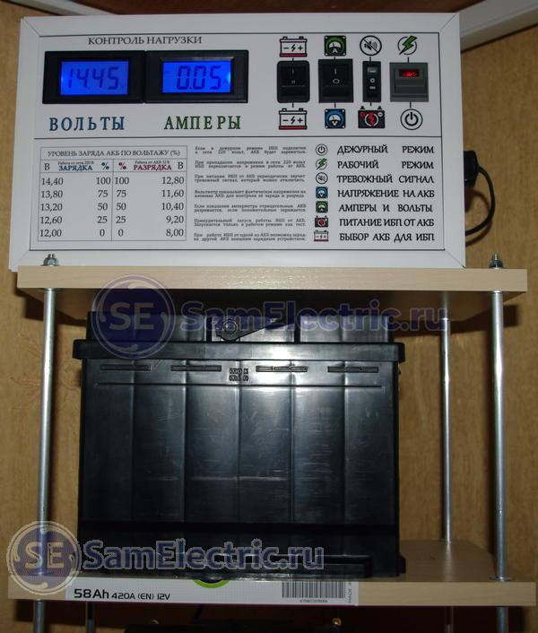 Аккумуляторы для ИБП. Теория и практика заряда
