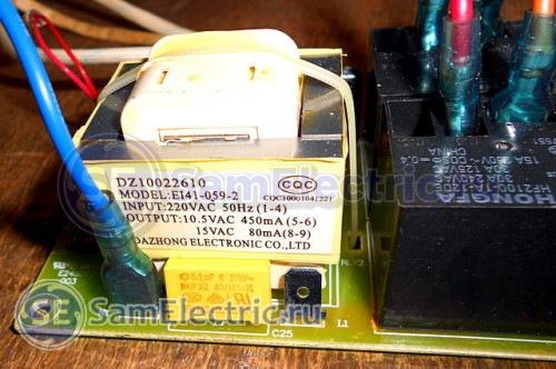 Силовая электронная плата настенного водонагревателя Thermex ID 80 H. Параметры платы.