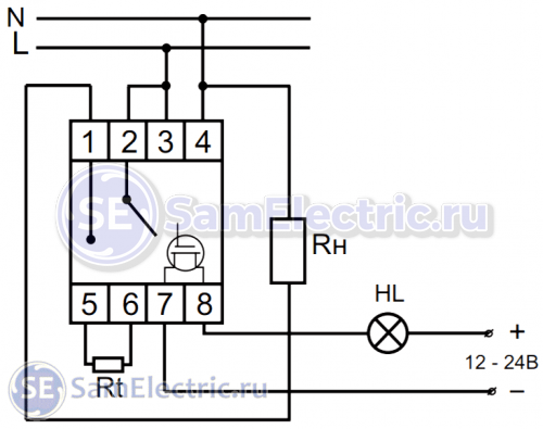 Регулятор температуры Евроавтоматика RT-820M, электрическая схема