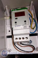 Регулятор температуры F&F RT-820M. Пример установки