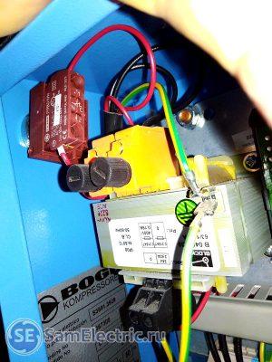 Выключатель аварийного останова компрессора