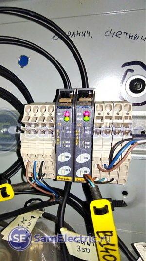 Электронный блок (оптоволоконный усилитель) оптического датчика