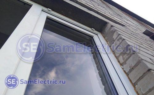 стык окна и стены - основное место ухода тепла!