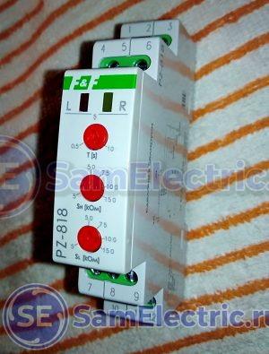 Передняя панель регулятора и органы управления устройством