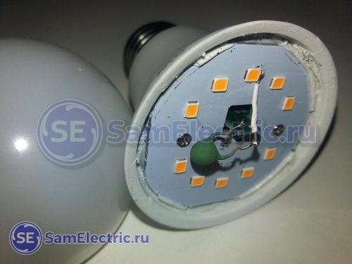 Доработка светодиодной лампы позистором для плавного розжига