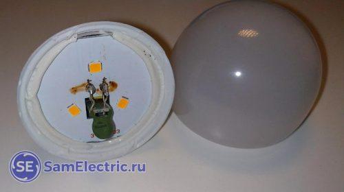 Доработка светодиодной лампы термистором для ночника