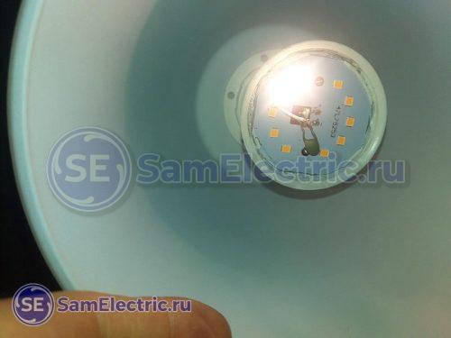 Плавное включение LED лампочки - доработка схемы позистором