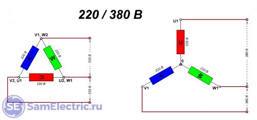 Двигатель 220-380
