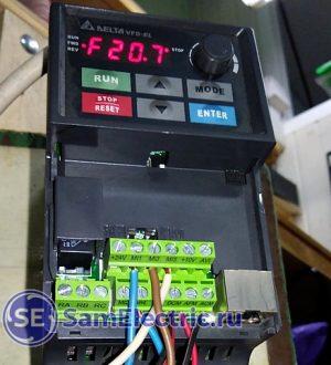 Преобразователь частоты – пример применения в станке