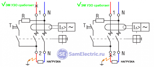 Электромеханическое УЗО фаза