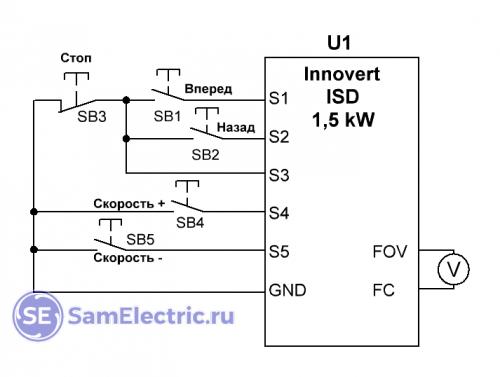 Схема управления токарного станка