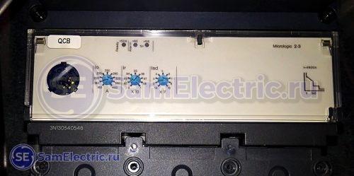Уставки электронного расцепителя