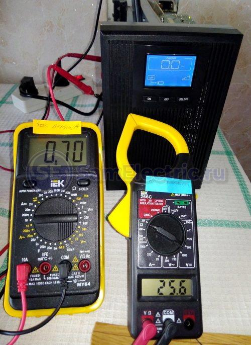 Измерение тока и напряжения заряда ИБП
