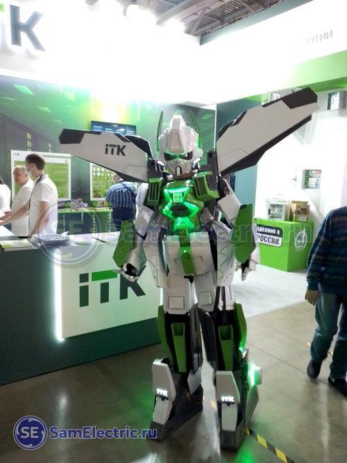 Робот IEK ITK на выставке
