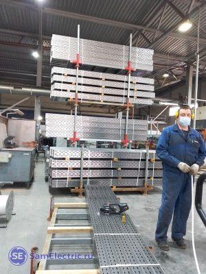 Металлические лотки производство