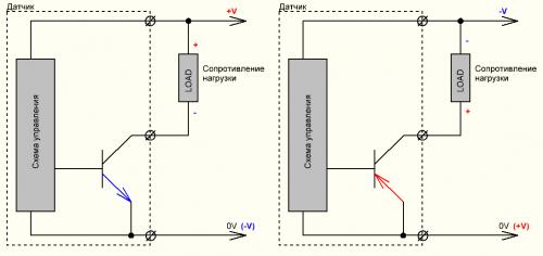 датчики pnp и npn схемы подключения